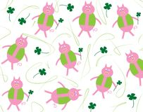 Pig and four-leaf clover Royalty Free Stock Photo