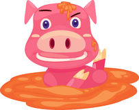 Pig funny. On a white background Stock Photography