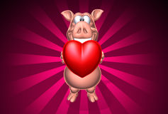 Pig giving some love Stock Images