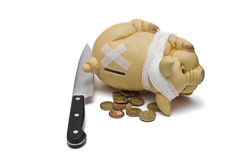 The pig has  benn killed. Royalty Free Stock Images