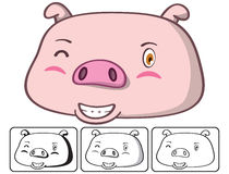 Pig head Royalty Free Stock Photos