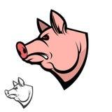 Pig head. Design element Stock Image