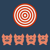 Pig head or face icon. Royalty Free Stock Photo