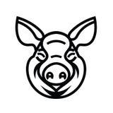 Pig Head Logo Mascot Emblem Stock Image