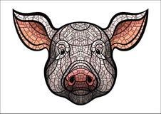 Pig head mascot Royalty Free Stock Photography