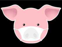 Pig head with mask Stock Image