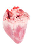 Pig heart. On white background royalty free stock photo