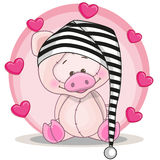 Pig with hearts Royalty Free Stock Images