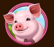 Pig icon with frame. Vector illustration vector illustration