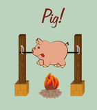 Pig icon Stock Image