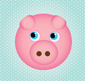 Pig icons. Pig  icons over dotted background vector illustration Stock Photos