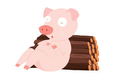 Pig illustration Royalty Free Stock Photography