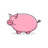 Pig illustration. Pig cartoon style illustration; Farm animal drawing Royalty Free Stock Photo