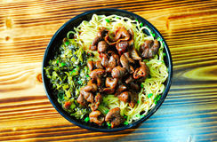 Pig intestines Noodles. In china Royalty Free Stock Photography