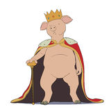 Pig king Royalty Free Stock Images