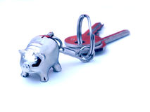 Pig label and keys Royalty Free Stock Photo