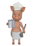 Pig little cook Royalty Free Stock Photos