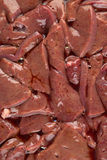 Pig liver. Close up on Stock Photos