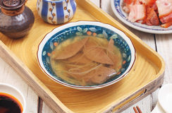 Pig liver soup Stock Image