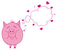 Pig in love Royalty Free Stock Images