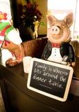 Pig Maitre D Stock Image