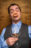 Pig Man Banker Stock Photography