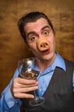 Pig Man Banker Royalty Free Stock Photo