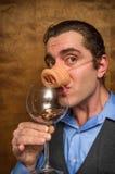 Pig Man Banker Stock Photos