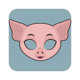 Pig mask for festivities Royalty Free Stock Photos