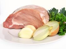 Pig meat. Freshly pig meat ready cooking Stock Image