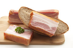 Pig meat with bread Stock Photos