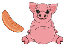 Pig and meat Stock Photos