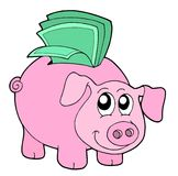 Pig money box. Vector illustration Royalty Free Stock Image