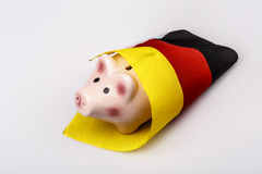 Pig money box and Germany flag Stock Image