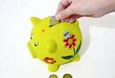 Pig money box, saving money concept Royalty Free Stock Photos