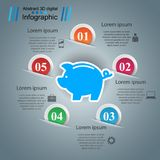 Pig money - business infographic. Vector eps 10 Stock Photos