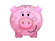 Pig moneybox. Illustration of a pink pig moneybox Royalty Free Stock Photo