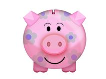 Pig moneybox. Illustration of a pink pig moneybox Royalty Free Stock Photography