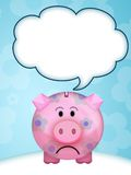 Pig moneybox. Illustration of a pink pig moneybox Royalty Free Stock Photos