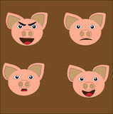 Pig Mood. FUN DESIGN FOR KIDS AND T-SHIRT KIDS, DRAWING BOOKS Royalty Free Stock Image