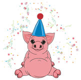 Pig on the party Royalty Free Stock Photos