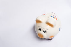 PIG PIG. Pig savings of a little boy. He was saving his money to buy toys Stock Photo