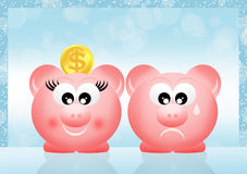 Pig piggy bank Stock Photo