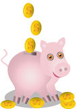 In pig piggy bank fall dollars Royalty Free Stock Photography