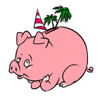 Pig piggy recreation bank Stock Images