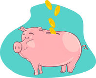 Pig piggy bank Royalty Free Stock Image