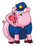 Pig Police Royalty Free Stock Image