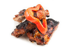 Pig or pork ribs grilled Stock Photography