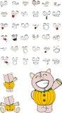 Pig pumpkin cartoon set. In format very easy to edit stock illustration