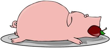 Pig Roast Royalty Free Stock Photo